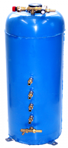 Calorifier 75 ltr Surejust Twin coil Vertical