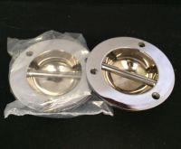 Set of 2 Chrome fender eyes