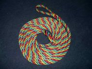 10m Red, green & yellow 14mm rope