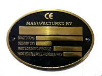 brass oval builders plaque