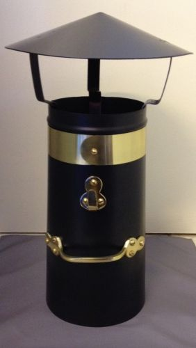 "18"" Double skin brass chimney with coolie hat"