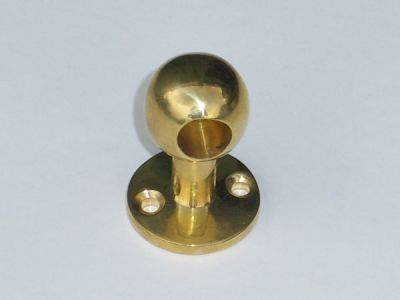 35mm high Brass curtain pole end