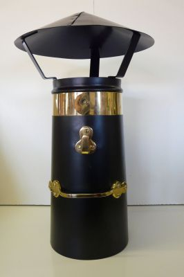 """12"""" Brass Chimney and coolie set"""
