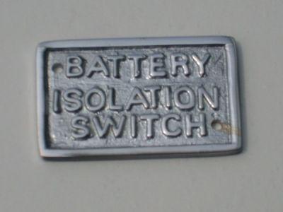 Chrome battery label