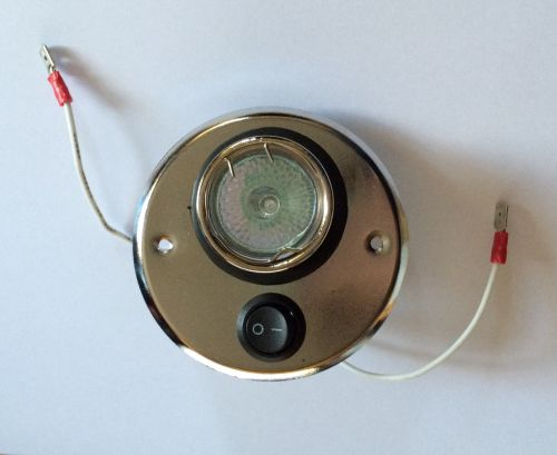 12v Switched halogen circle light - chrome