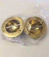 Set of 2 Brass Fender Eyes