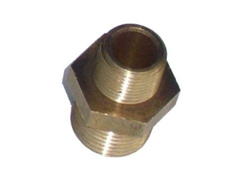 Brass reducing nipple 1/2 x 3/8